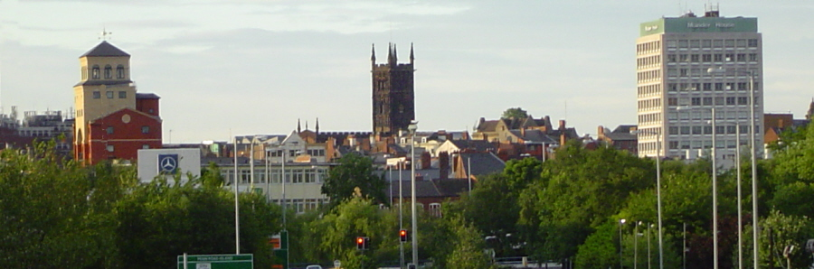 English: View of Wolverhampton showing the three main buildings on the city skyline     Date   1 June 2008     Source   Own work     Author   Statsfan